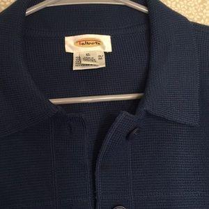Talbots merino wool cardigan buttons down XL